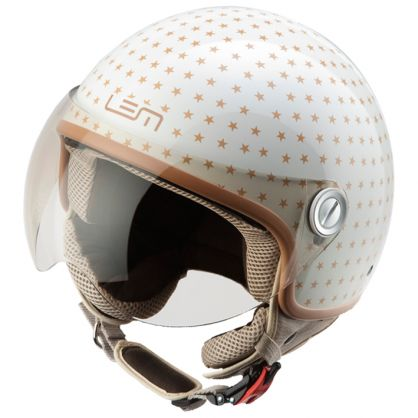 CASCO MOTO LEM DUSTY BEIGE/ORO T-XL