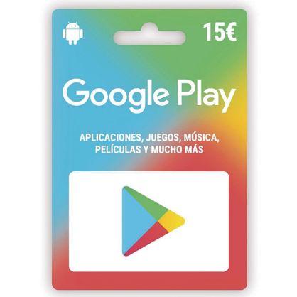 Google Play 15 euros